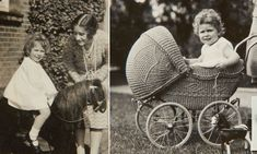 Elizabeth, the curly years: Previously unseen photos of our future Queen as a toddler show she was already obsessed with horses