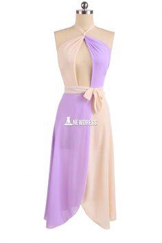 Stylish Ladies Women Sexy Halter Split Hem Patchwork Maxi Dress