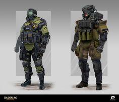ArtStation - Soldiers Inc. Characters Concept art 2, Alexander Dudar