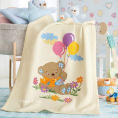 Schema per copertina culla motivo disegno orsetto