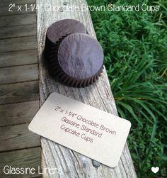 2 X 1-1/4 Chocolate Brown Glassine Standard by TheBakersBin
