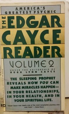 82 best edgar cayce images on pinterest ancient mysteries books edgar cayce reader vol fandeluxe Images