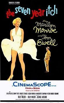 The Seven Year Itch //     Directed by	Billy Wilder  Produced by	Charles K. Feldman  Billy Wilder  Written by	George Axelrod  Billy Wilder  Starring	Marilyn Monroe  Tom Ewell  Cinematography	Milton R. Krasner  Editing by	Hugh S. Fowler  Distributed by	20th Century Fox  Release date(s)	June 3, 1955