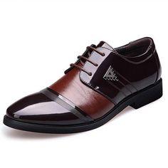 Men Flat Shoes Business Casual Men Leather Shoes England Men's Dress  Wedding Breathable Oxfords Shoes Zapatos Hombre Moccasins 8