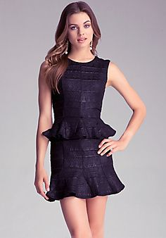 Godet Peplum Dress