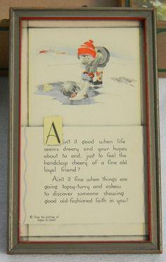 Vintage Buzza Framed Motto Print Edgar A Guest Picture Art Deco Lithograph Verse #Vintage