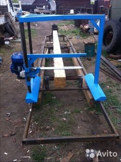 Related image Homemade Chainsaw Mill, Wood Projects, Projects To Try, Bandsaw Mill, Saag, Survival Stuff, Le Moulin, Farming, Beams