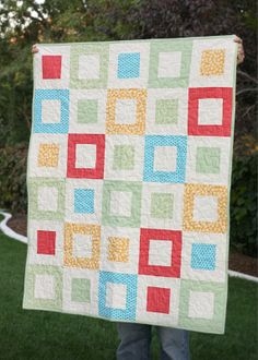 Easy baby quilt - Filmstrip - link to tutorial