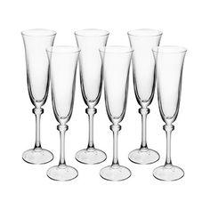 Jogo de Taças de Cristal para Champagne Alexandria 190ml 6 Peças - Bohemia