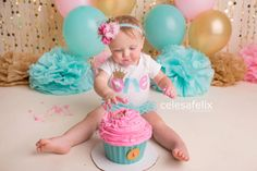 First One Number Birthday Shirt Custom Bubblegum Pink, aqua gold crown, baby girl toddler glitter shirt, cake smash outfit photography prop by MudpiesandPigtails on Etsy https://www.etsy.com/listing/240686945/first-one-number-birthday-shirt-custom