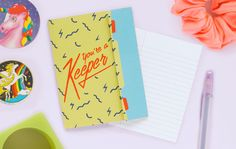 You're a Keeper - Retro Folded Trapper Keeper Greeting card by ElloThere on Etsy https://www.etsy.com/listing/233038366/youre-a-keeper-retro-folded-trapper