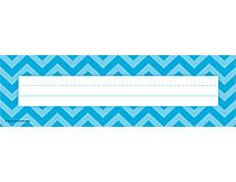 """Aqua Chevron Name Plates (flat) (TCR5527) « Products 