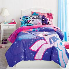My Little Pony® 'Stars Are Out' Twin-Size Comforter - Sears My Little Pony Bedding, Canada Shopping, Bedding Collections, Online Furniture, Mattress, Comforters, Kids Room, Blanket, Twin