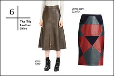 Your Fall Wardrobe In 30 Essential Buys #refinery29  http://www.refinery29.com/fall-fashion#slide7  6. The '70s Leather Skirt Those short, '80s rocker leather minis have had their moment. These days, leather skirts are getting a little longer, a little more boho, and coming in richer, matte materials like suede.