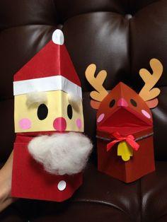 作って楽しい、遊んで楽しい、手作りパクパク人形! 布きれや包装紙を貼るなどアレンジいろいろ☆ オリジナルの人形を作ったら、いろんなやりとりやお話が生まれるかも? Xmas, Christmas Ornaments, Gingerbread, Origami, Diy And Crafts, Gift Wrapping, Activities, Holiday Decor, Home Decor