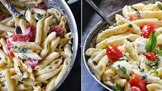Penne á la margherita Penne, Mozzarella, Pasta Salad, Treats, Ethnic Recipes, Food, Crab Pasta Salad, Sweet Like Candy, Goodies