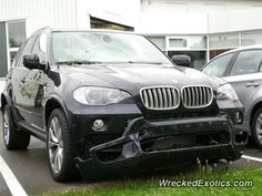 BMW X-Series X5 crashed in Stuttgart, Germany