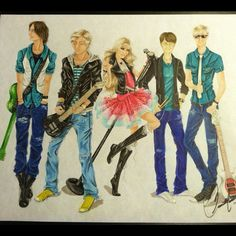Finished this yesterday!  Rocky, Ross, Rydel, Ratliff, and Riker - R5 ;)