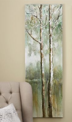Birch Trees Painting Print on Canvas