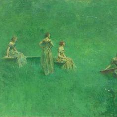 "Thomas Dewing ""Il liuto"" (1904)"