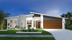 Trending Modern Home Exterior Design For Your Decorations 24 Replacing an exterior home trim can add to the freshness and beauty of your home. The trim is an important […] Modern House Plans, Modern House Design, Bungalow House Design, Bungalow Homes, Facade Design, Exterior Design, Villa Design, Mid Century Exterior, Modern Exterior