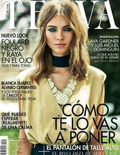 Djaja Baecke by Tomás de la Fuente for Telva Magazine October 2015 cover - Chanel Fall 2015