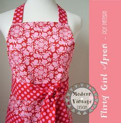 Vintage Apron Patterns Free | :: Shop for Patterns :: Shop by Project :: Aprons :: Modern Vintage ...