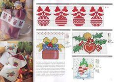 Noël coeur avec laurier Christmas Cross, Xmas, Minnie Baby, Christmas Embroidery, Advent Calendar, Cross Stitch, Holiday Decor, Hobby, Crossstitch