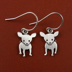 Chihuahua earrings by StickManJewelry on Etsy, $33.00 #dogs #animal #chihuahua