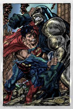 Superman Vs Darkseid By John Byrne Superman Vs Darkseid, Superman Art, Batman, Superman Stuff, Dc Comics Art, Anime Comics, Marvel Vs, Marvel Dc Comics, Comic Books Art