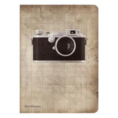 £4.00- Camera Pocket Notebook. This cute little notebook features a camera on the cover, and is filled with 80 pages of cream paper. #camera