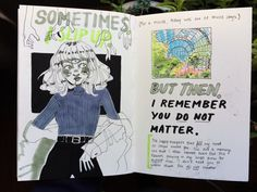 "By Jamie / 8butt ""I did two spreads today. These are really important to me!"" #Art #journal #sketchbook"