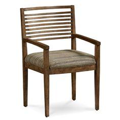 A.R.T. Furniture Epicenters Williamsburg Slat Back Arm Chair (Chair), Brown (Pine)