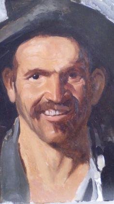 After Velázquez Oil on canvas 46 x 38 cm For sale