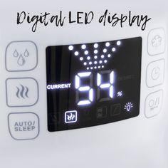 Amazon.com: Della Warm & Cool Mist Humidifier Ultrasonic Humidifiers for Bedroom LED External Humidity Sensor 360° Rotatable Nozzle: Home & Kitchen
