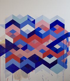 Fine artist Jeff Depner creates these colourful geometric perfect acrylic paintings. these painting are examples of geometrical perfection to me. Art Et Illustration, Photo Projects, Art Design, Graphic Design, Graphic Patterns, Community Art, Painting Inspiration, Design Inspiration, Textures Patterns