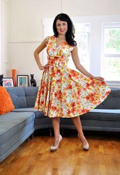 Heart of Haute Milan dress in Orange Femme