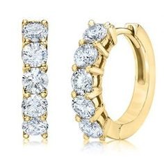 Continue reading IGI Certified 18K Yellow Gold Womens Diamond Hoop Earrings 1.50 Ctw H-I, VS1-VS2 at Jewelry.