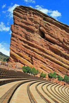 Historic Red Rocks Amphitheater Near Denver