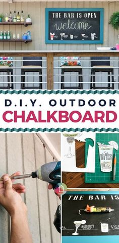 If you have ever wondered how to make a chalkboard to enjoy outside, you are in luck! This tutorial will show you exactly how to make a cute and durable DIY outdoor chalkboard! Kaleidoscope Living #outdoorchalkboard #chalkboardtutorial