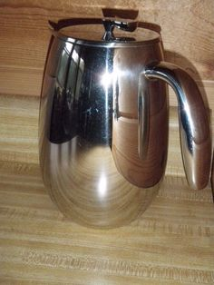 Bodum Columbia Jorgensen 8 Cup French Press Stainless Steel Thermal Coffee Tea #Bodum