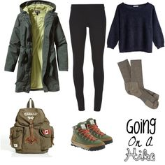 """Going on a hike"" by decayy on Polyvore"