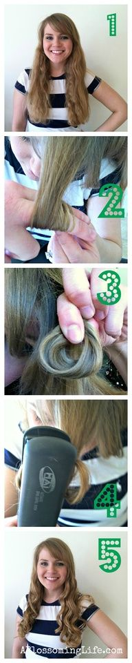 Awesome flatiron curls