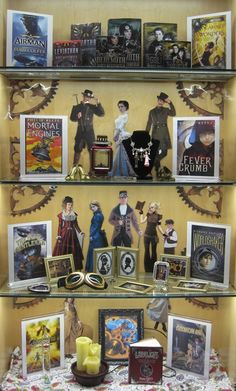 Steampunk | Library Book Display #ILEAD #dalinc http://pinterest.com/doloress16/taneytown-branch-display-ideas/
