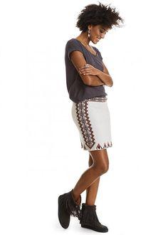 Nederdel strik 217M-206 Pocahontas Skirt - chalk