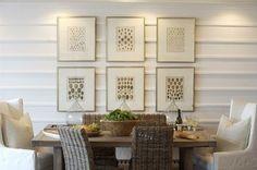 board and batten interior walls..love the horizontal look!