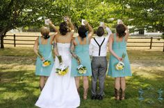 Wedding Photography Bridal party country wedding