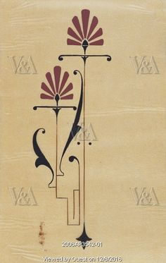 Design by Christopher Dresser. England, late 19th century
