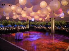 Lanterns!!! OHH MY GAWD I WANT A DANCE FLOOR LIKE THISS