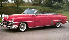 1953 Chrysler New Yorker Deluxe Convertible Chrysler Windsor, Chrysler Imperial, Retro Cars, Vintage Cars, Antique Cars, Vintage Auto, Chrysler Cars, Chrysler 300, Convertible
